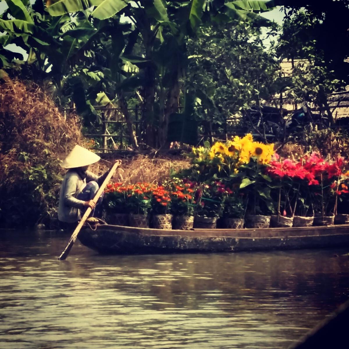 Marché flottant - Ho Chi Minh Vietnam