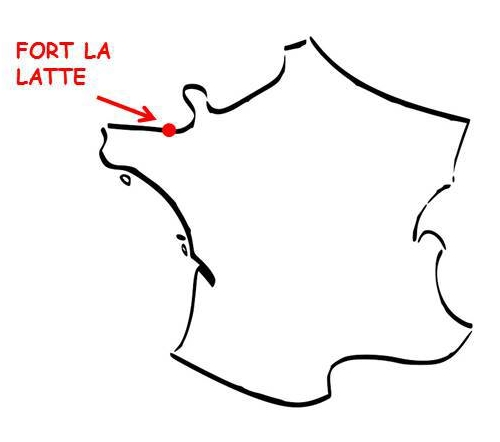Carte fort la Latte Bretagne