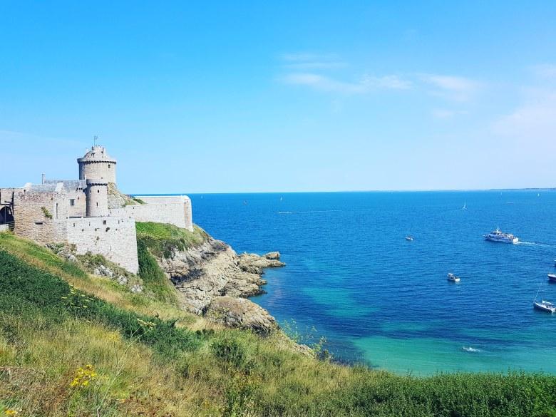 Vue sur le fort la Latte Bretagne